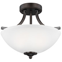 Geary 2 Light 14 inch Burnt Sienna Semi-Flush Convertible Pendant Ceiling Light