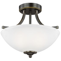 Geary 2 Light 14 inch Heirloom Bronze Semi-Flush Convertible Pendant Ceiling Light