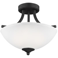 Geary 2 Light 14 inch Blacksmith Semi-Flush Convertible Pendant Ceiling Light