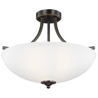 Sea Gull 7716503EN3-782 Geary 3 Light 19 inch Heirloom Bronze Semi-Flush Convertible Pendant Ceiling Light