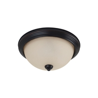 LED Ceiling LED 15 inch Burnt Sienna Flush Mount Ceiling Light in Amber Scavo Glass