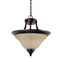 Brockton 2 Light 15 inch Burnt Sienna Convertible Pendant Ceiling Light