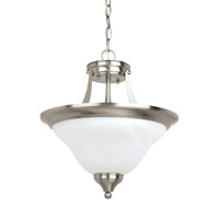Brockton 2 Light 15 inch Brushed Nickel Convertible Pendant Ceiling Light