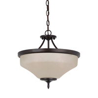 Montreal 3 Light 15 inch Burnt Sienna Convertible Pendant Ceiling Light