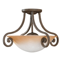 Sea Gull Lighting Brandywine - Semi-Flush Mount in Grecian Stone 77231-734
