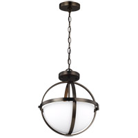Alturas 2 Light 14 inch Brushed Oil Rubbed Bronze Semi-Flush Convertible Pendant Ceiling Light