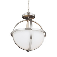 Alturas 2 Light 14 inch Brushed Nickel Semi-Flush Convertible Pendant Ceiling Light in Fluorescent