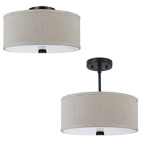 Dayna 2 Light 14 inch Burnt Sienna Semi-Flush Mount Ceiling Light in Standard