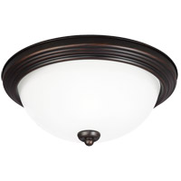 Signature 3 Light 15 inch Burnt Sienna Flush Mount Ceiling Light