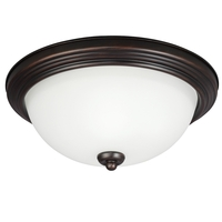 Sea Gull Signature 3 Light Flush Mount in Burnt Sienna 77265-710