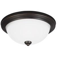 Sea Gull 7726593S-710 Signature LED 15 inch Burnt Sienna Flush Mount Ceiling Light