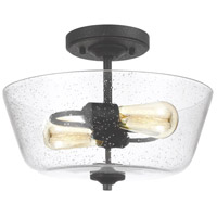 Morill 2 Light 15 inch Blacksmith Semi-Flush Mount Ceiling Light