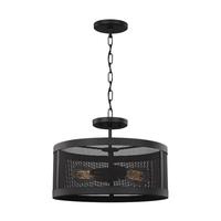 Sea Gull 7728502EN7-12 Gereon 2 Light 16 inch Black Semi-Flush Convertible Ceiling Light