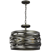 Sea Gull 7728602-802 Cowen 2 Light 17 inch Obsidian Mist Semi-Flush Convertible Pendant Ceiling Light