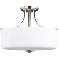 Sea Gull 7728803-962 Canfield 3 Light 16 inch Brushed Nickel Semi-Flush Mount Ceiling Light