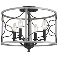 Sea Gull 7731504EN-808 Carra 4 Light 15 inch White Wash Semi-Flush Mount Ceiling Light