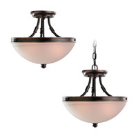 Sea Gull Lighting Warwick 2 Light Semi-Flush Mount in Vintage Bronze 77330-825 photo thumbnail