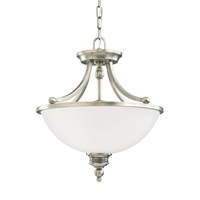 Laurel Leaf 2 Light 16 inch Antique Brushed Nickel Convertible Pendant Ceiling Light