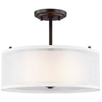 Sea Gull 7737302EN3-782 Elmwood Park 2 Light 15 inch Heirloom Bronze Semi-Flush Mount Ceiling Light