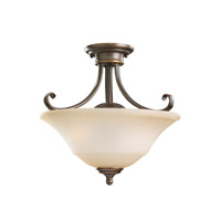 Sea Gull 77380-829 Parkview 2 Light 15 inch Russet Bronze Semi-Flush Mount Ceiling Light in Ginger Glass alternative photo thumbnail
