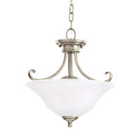 Parkview 2 Light 15 inch Antique Brushed Nickel Convertible Pendant Ceiling Light