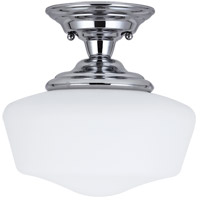 Academy 1 Light 12 inch Chrome Semi-Flush Mount Ceiling Light in Standard