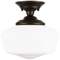 Academy 1 Light 12 inch Heirloom Bronze Semi-Flush Mount Ceiling Light in Standard