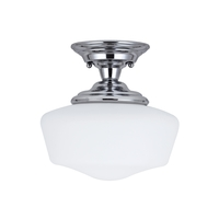 Academy 12 inch Chrome Semi Flush Ceiling Light