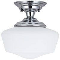 Academy 1 Light 12 inch Chrome Semi-Flush Mount Ceiling Light in Fluorescent