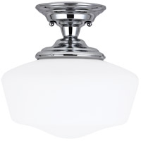 Sea Gull 77437-05 Academy 1 Light 13 inch Chrome Semi-Flush Mount Ceiling Light in Standard