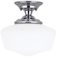 Sea Gull 77437-05 Academy 1 Light 13 inch Chrome Semi-Flush Mount Ceiling Light