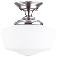 Academy 1 Light 13 inch Brushed Nickel Semi-Flush Mount Ceiling Light in Standard