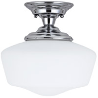 Academy 1 Light 13 inch Chrome Semi-Flush Mount Ceiling Light in Fluorescent