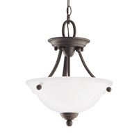 Sea Gull 77625EN3-782 Wheaton 2 Light 13 inch Heirloom Bronze Semi-Flush Convertible Pendant Ceiling Light