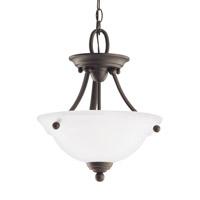Sea Gull 77625EN3-782 Wheaton 2 Light 13 inch Heirloom Bronze Semi-Flush Convertible Pendant Ceiling Light