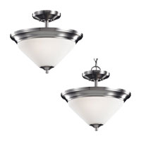 Sea Gull Lighting Belair 2 Light Semi-Flush / Pendant in Brushed Nickel 77790-962 photo thumbnail