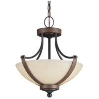 Sea Gull Corbeille 2 Light Semi-Flush Convertible Pendant in Stardust / Cerused Oak 7780402BLE-846