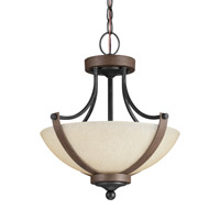 Corbeille 2 Light 15 inch Stardust Semi-Flush Convertible Pendant Ceiling Light