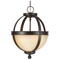 Sea Gull Sfera 2 Light Semi-Flush Convertible Pendant in Autumn Bronze 7790402-715