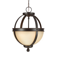Sea Gull 7790402EN3-715 Sfera 2 Light 14 inch Autumn Bronze Semi-Flush Convertible Pendant Ceiling Light
