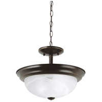 Windgate 2 Light 12 inch Heirloom Bronze Semi-Flush Mount Ceiling Light in Standard