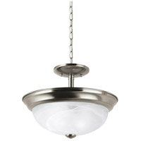 Windgate 2 Light 12 inch Brushed Nickel Semi-Flush Mount Ceiling Light in Standard