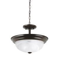 Sea Gull 77950EN3-782 Windgate 2 Light 13 inch Heirloom Bronze Semi-Flush Convertible Pendant Ceiling Light