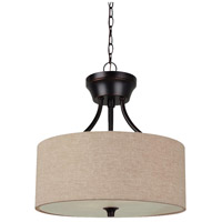 Stirling 2 Light 14 inch Burnt Sienna Semi-Flush Mount Ceiling Light in Beige Linen Fabric, Standard