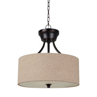Stirling 2 Light 14 inch Burnt Sienna Semi-Flush Convertible Pendant Ceiling Light