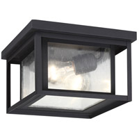 Sea Gull Hunnington 2 Light Outdoor Flush Mount in Black 78027-12