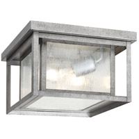 Sea Gull 78027-57 Hunnington 2 Light 10 inch Weathered Pewter Outdoor Flush Mount