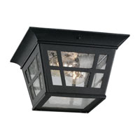 Sea Gull 78131-12 Herrington 2 Light 11 inch Black Outdoor Ceiling Fixture