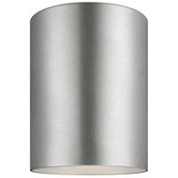 Bullets 1 Light 5 inch Painted Brushed Nickel Outdoor Flush Mount