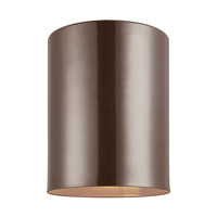 Cylinders 1 Light 5 inch Bronze Outdoor Flush Mount